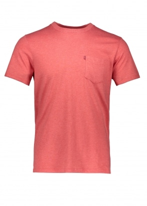 Levi's Red Tab SS Pocket Sunset Tee - Red Heather