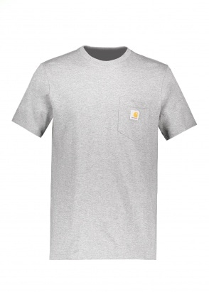 Carhartt WIP SS Pocket T-Shirt - Dark Grey Heather