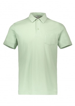 Sunspel SS Riviera Polo - Aqua Leaf