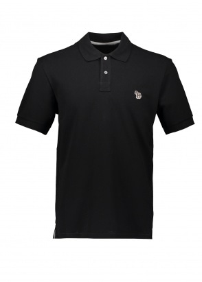 Paul Smith SS Zebra Logo Polo - Black