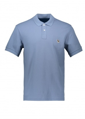 Paul Smith SS Zebra Logo Polo - Light Blue