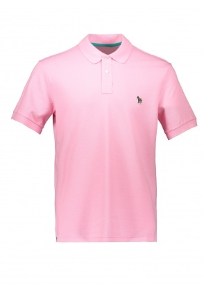 Paul Smith SS Zebra Logo Polo - Pink