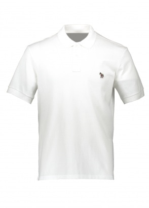 Paul Smith SS Zebra Logo Polo - White