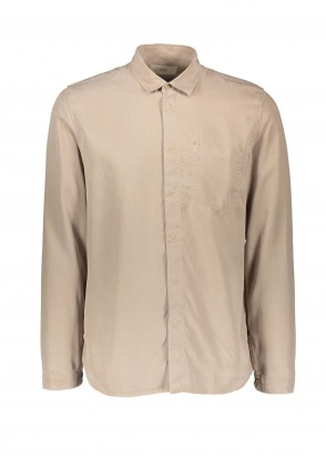 Folk Stitch Pocket Shirt - Fog