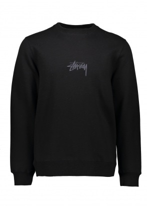 Stussy Stock Applique Crew - Black