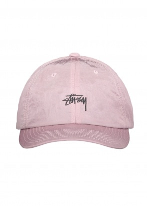 Stussy Stock Metallic Low Pro Cap - Berry
