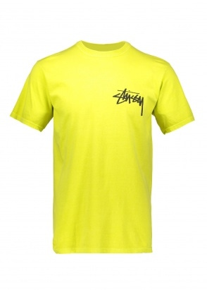 Stussy Stock Pig. Dyed Tee - Lime
