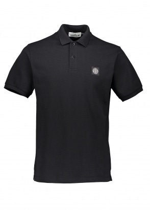 Stone Island Patch Polo Shirt - Black