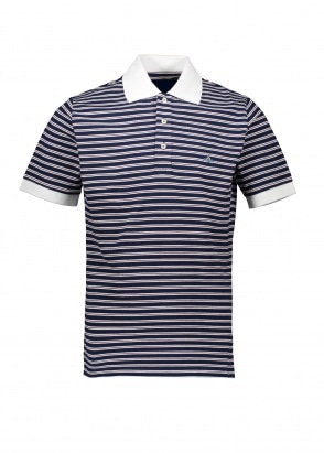 Vivienne Westwood Mens Stripe Polo - Navy / Red / White