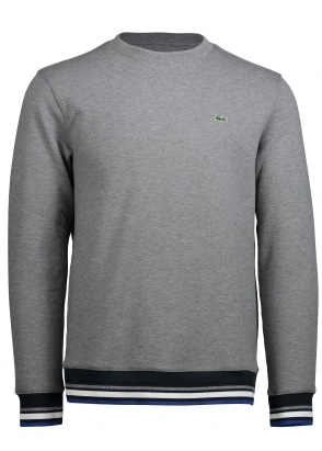 Lacoste Striped Accent Sweat - Galaxite