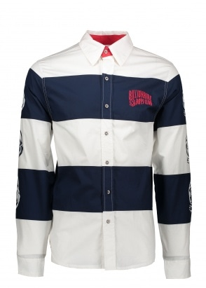 Billionaire Boys Club Striped Poplin Shirt - White
