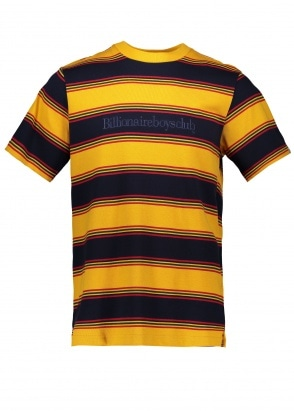 Billionaire Boys Club Striped SS Tee - Yellow