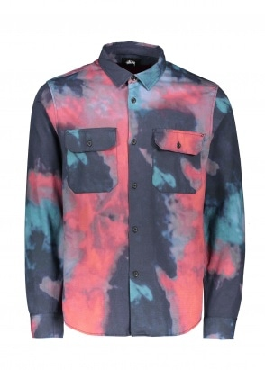 Stussy Dark Dye Work Shirt - Black