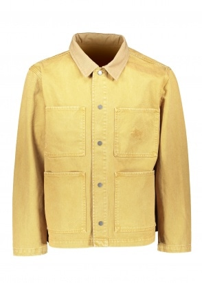 Stussy Heavy Wash Chore Jacket - Gold