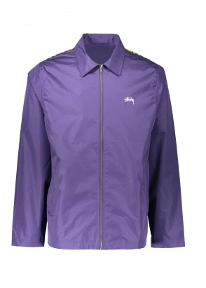 Stussy Leopard Panel Jacket - Purple