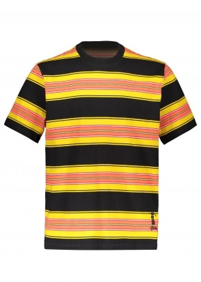 Stussy Multi Stripe Crew - Black