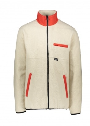 Stussy Nylon Mock Neck Fleece Jacket - Cream