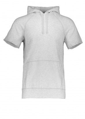 Reigning Champ Terry Cut Off Hoodie - Heather Ash