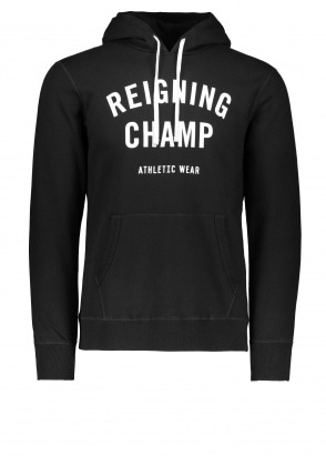 Reigning Champ Terry Gym Logo Hoodie - Black / White