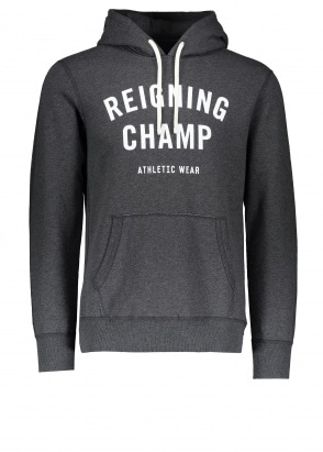 Reigning Champ Terry Gym Logo Hoodie - Charcoal