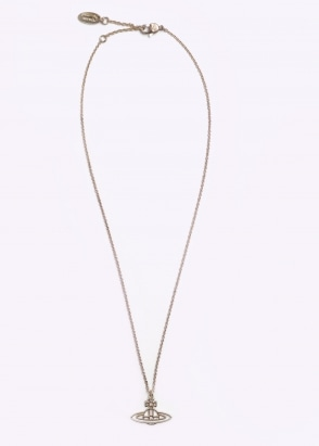 Vivienne Westwood Accessories Thin Lines Flat Orb Pendant - Gold