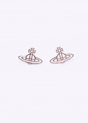 Vivienne Westwood Accessories Thin Lines Orb Studs - Pink Gold