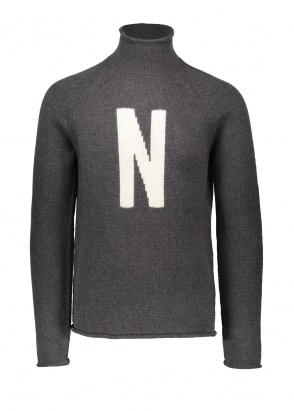 Norse Projects Thore N Intarsia - Charcoal Melange