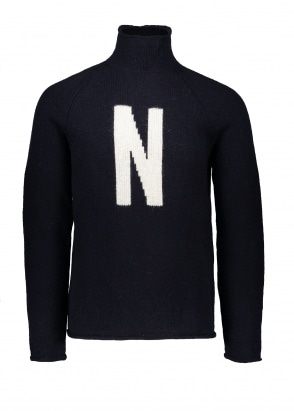 Norse Projects Thore N Intarsia - Dark Navy