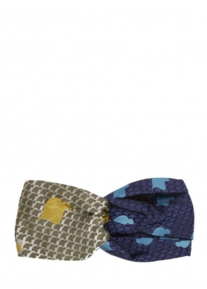 Vivienne Westwood Accessories Tie Head Band - Green / Blue