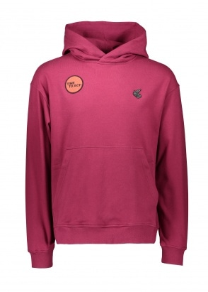 Vivienne Westwood Womens Time To Act Hoodie - Beet Red