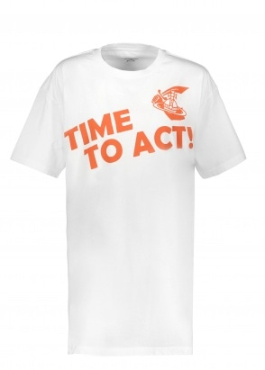 Vivienne Westwood Womens Time To Act Tee- White
