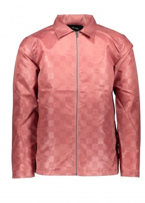 Stussy Tonal Check Jacket - Rose