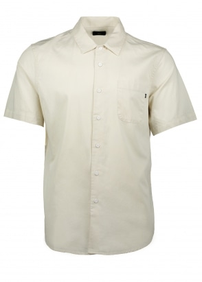 Obey Tour City Woven Shirt - Light Cream