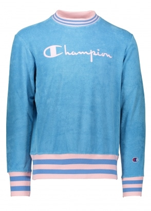 Champion Towelling Sweater - Blue/Pink