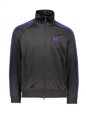Needles  Track Jacket Poly Smooth - Charcoal