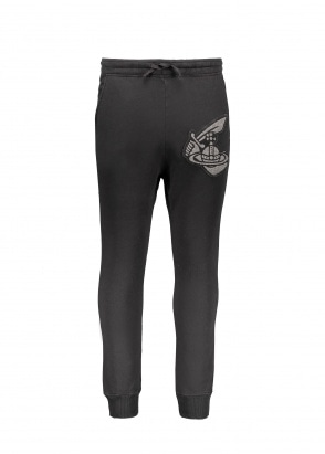 Vivienne Westwood Mens Tracksuit Bottoms Patch - Black