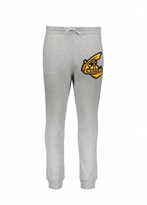 Vivienne Westwood Mens Tracksuit Bottoms Patch - Grey