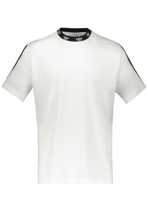 adidas Originals Apparel Trefoil Rib Tee - White / Black