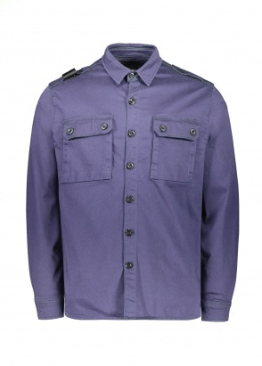 MA.STRUM Two Pocket Shirt - True Navy