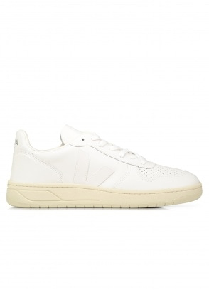 Veja V-10 Leather Trainers - White