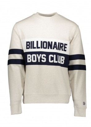 Billionaire Boys Club Varsity Cut & Sew Crew - White
