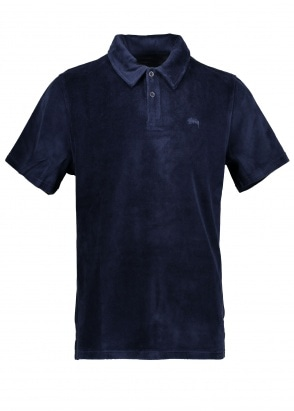 Stussy Victor S/SL Polo - Navy