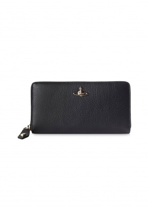 Vivienne Westwood Accessories Balmoral Zip Round Wallet - Black