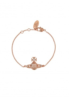 Vivienne Westwood Accessories Minnie Bas Relief Bracelet - Pink Gold