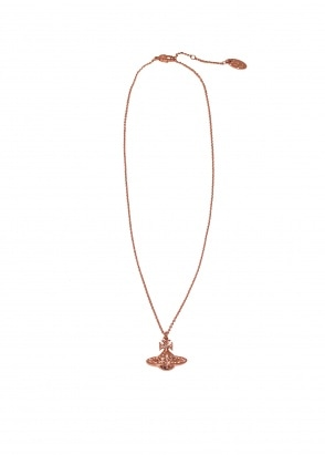 Vivienne Westwood Accessories Minnie Bas Relief Pendant - Pink / Gold
