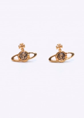 Vivienne Westwood Accessories Nano Solitaire Earrings - Gold
