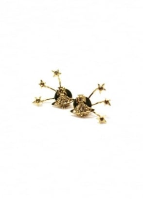 Vivienne Westwood Accessories PIA Earrings Gold/Topaz