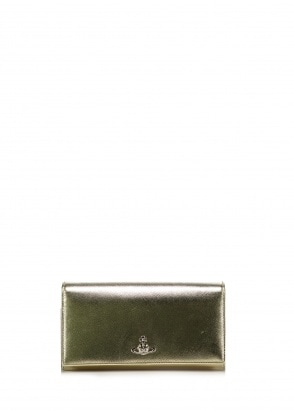 Vivienne Westwood Accessories Pimlico Long Wallet - Gold