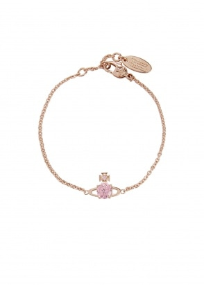 Vivienne Westwood Accessories Reina Small Bracelet - Pink Gold