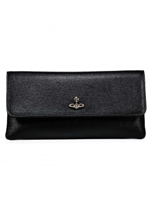 Vivienne Westwood Accessories Saffiano Purse - Black